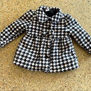 Healthtex Toddler Girls Houndstooth Fleece Coat 3t
